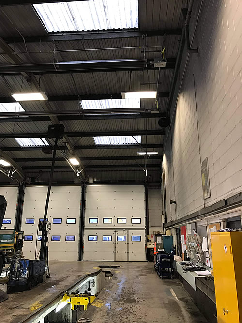 Gas (Natural and LPG) Radiant Heaters installed by Industrial Heaters
