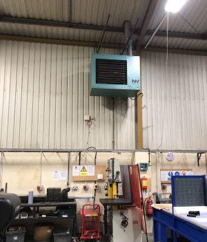 Condensing Winterwarm HR high efficiency heaters installed in Dorset