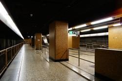 Spare platforms at Sheung Wan Station