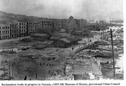 "Hong Kong Reclamation Works in ""Victoria"" c1895 HK Museum of History"