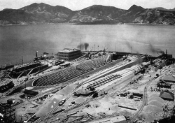 Tai Koo Graving Dock and Main Slipway nearing  completion 1997 HK Museum of History Provisional Urban Council