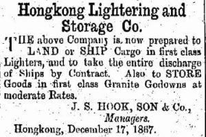 Hongkong Lightering And Storage Company Company China Mail 28.5.1868