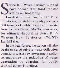 Swire BFI Waste Services Ltd A Waste Management 1995 From IDJ