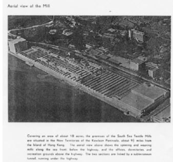South Sea Textile Mills Aerial View 1967 York Lo