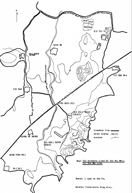 Industries Nai Wai.Fui Shan Wan 1969 dissertation boundary lines of area covered