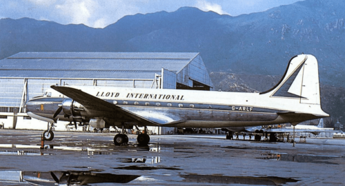 Lloyd International Douglas C54 Skymaster At Kai Tak October 1961 IDJ Image 3
