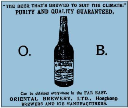 Oriental Brewery ad. Hongkong Telegraph 21 Nov 1911