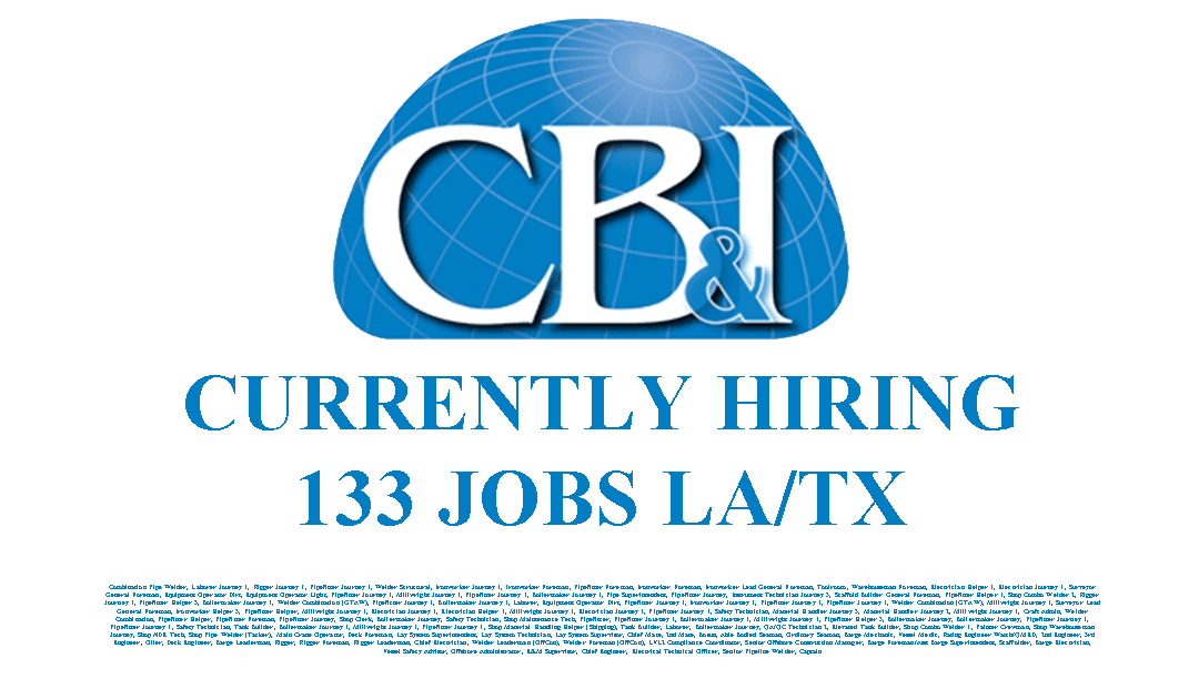 CBI Currently Hiring 133 Jobs  Industrial Job Shop