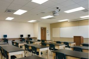 LED T8 Retrofit for classroom lighting