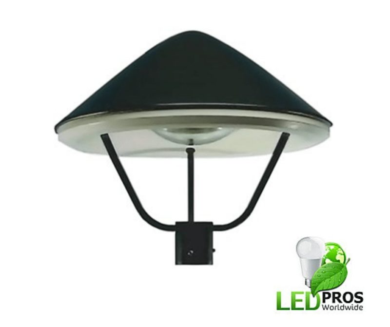 LED post top lighting fixtures