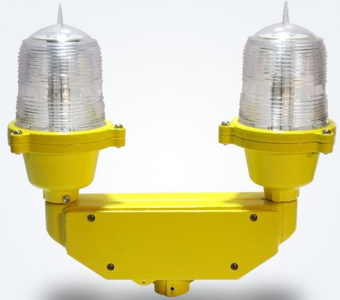 led obstruction light double