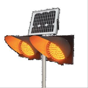 Solar Flashing Traffic Beacons