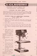 Clausing Drill Press Manual