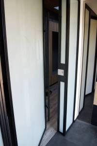 Drzwi szkło stal