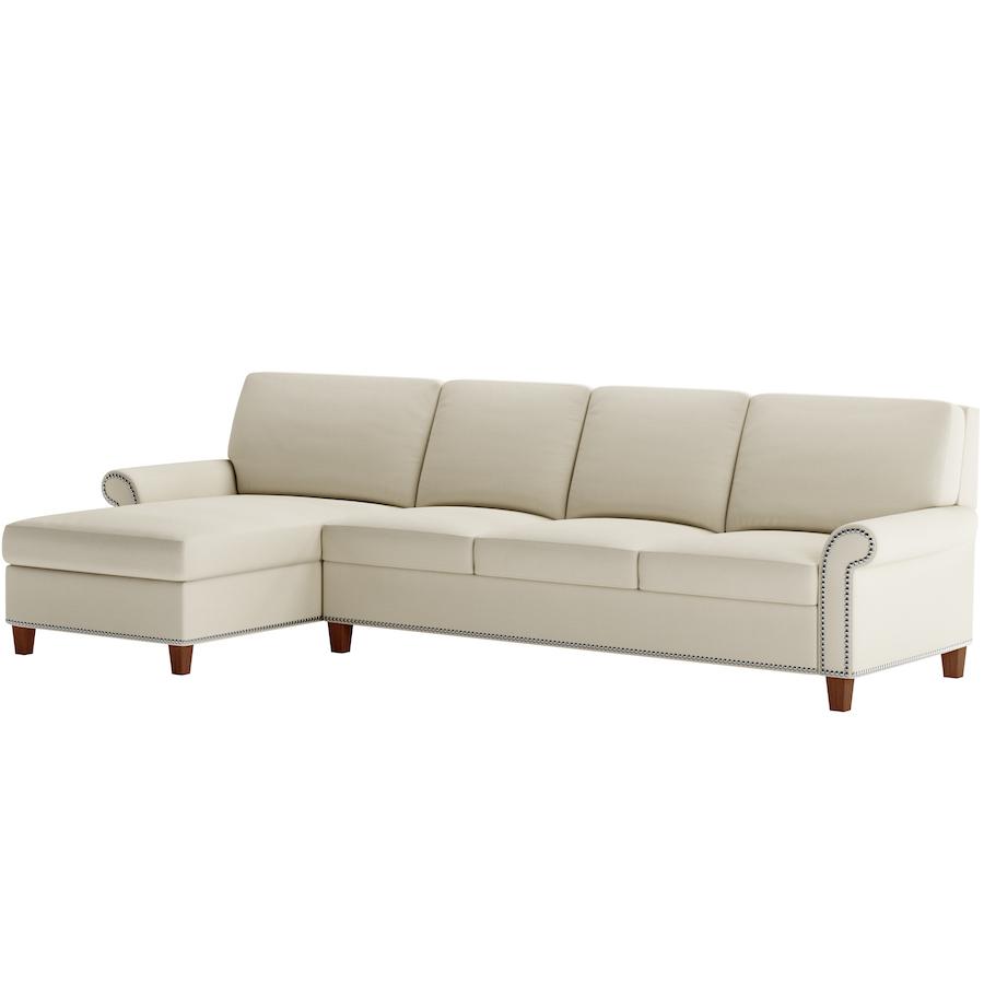 leather sleeper sofa with nailheads bobs furniture reviews gibbs comfort bed no bars springs sagging nailhead american