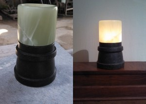Soapstone and Alabaster Tea lamp