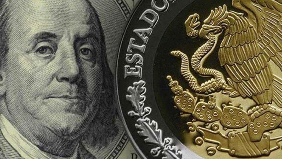 Dólar cae a 19.10 pesos en bancos