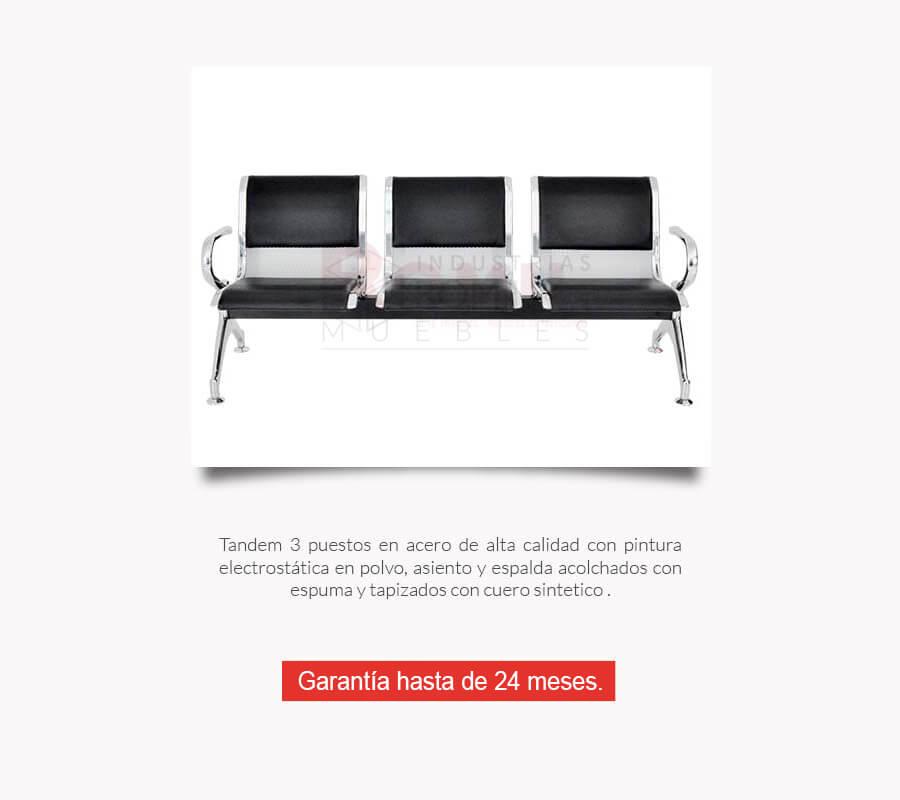 Sillas tndem de espera para oficinas Cali Colombia  Romil