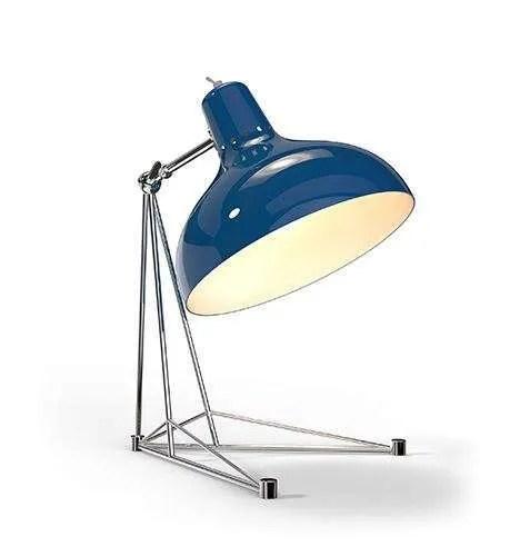 Delightfull Diana tafellamp blauw chroom