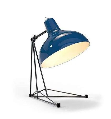 Delightfull Diana tafellamp blauw zwart-chroom