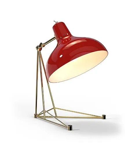 Delightfull Diana tafellamp rood goud