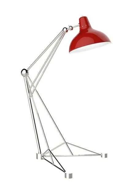 Delightfull Diana vloerlamp Rood chroom