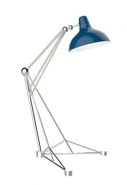 Delightfull Diana vloerlamp blauw chroom1