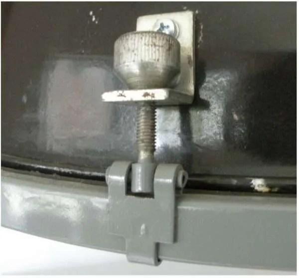Geemailleerde barrel hanglamp XL detail 2