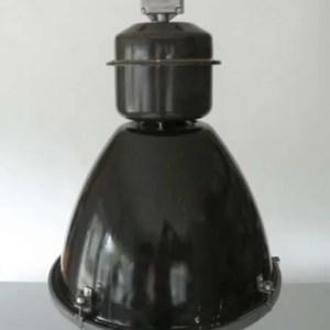 Geemailleerde barrel hanglamp XL