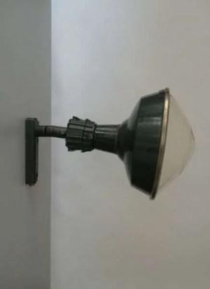 Geemailleerde stalen wandlamp XL 1