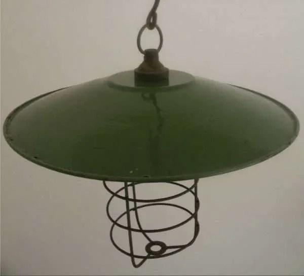 Kooilamp met groen geemailleerde kap