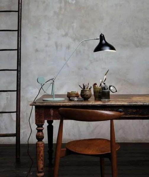 Mantis BS3 bureaulamp Zwart-satijn op bureau 3