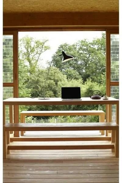 Mantis BS3 bureaulamp Zwart-satijn op bureau voor raam