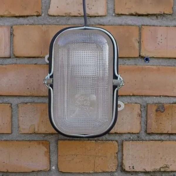 Porseleinen bunkerlamp
