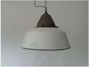 Wit geemailleerde hanglamp