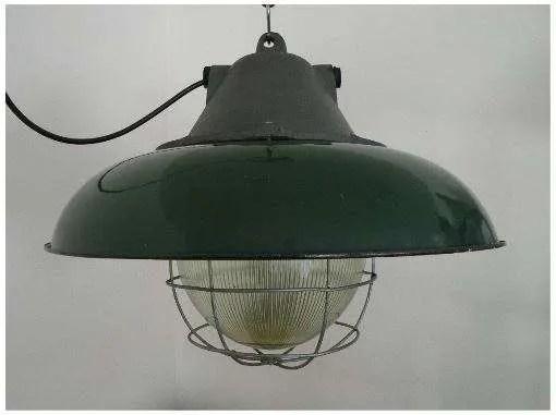 geemailleerde xl hanglamp groen 2