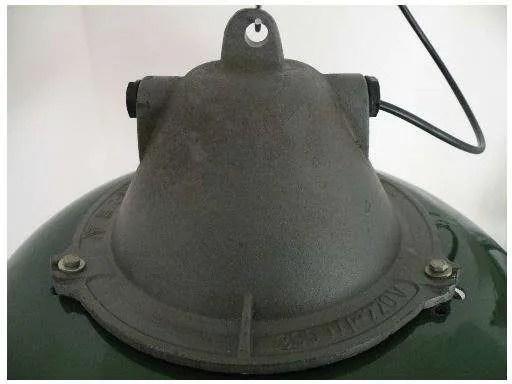 geemailleerde xl hanglamp groen detail