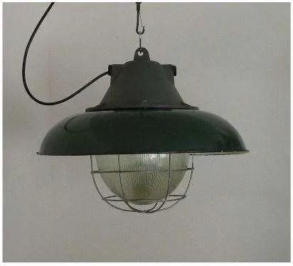 geemailleerde xl hanglamp groen
