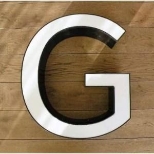 reclame letterlamp G