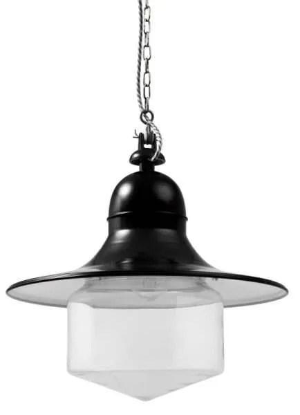 Siegen stolplamp conische stolp zwart breed
