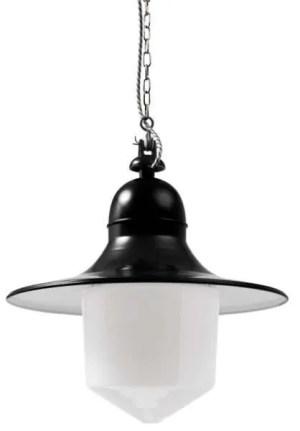 Siegen stolplamp conische stolp zwart