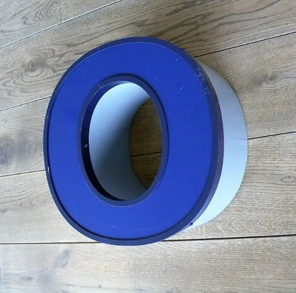 letterlamp blauw 0 front side 2