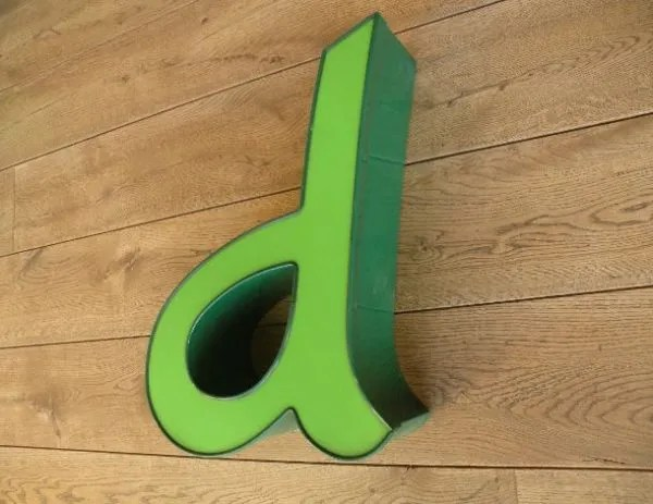 letterlamp groen d 2