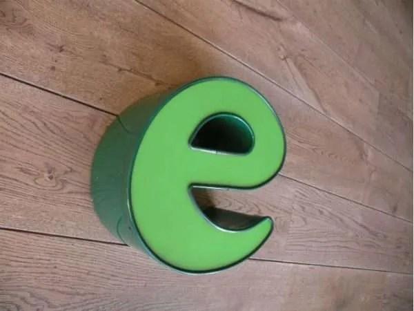 letterlamp groen e 2