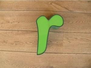 letterlamp groen r1