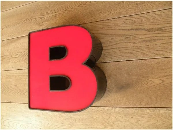 letterlamp rood B 3