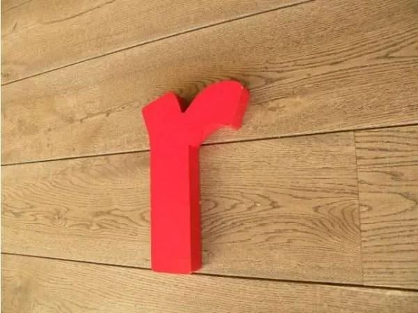 letterlamp rood r 3