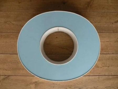 letterlamp wit met blauw o