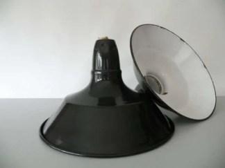 Geemailleerde hanglamp blauw s 1