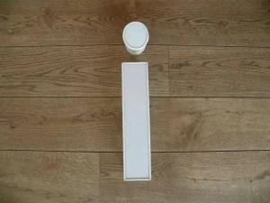 Letterlamp i wit voorkant
